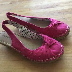 Bass Size 6 Pink Espadrille Slingback Sandals